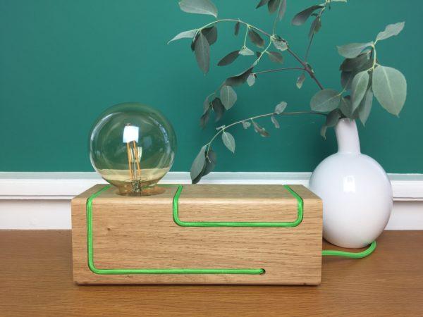Woodboy-Maze-Two-lampe-vert-pomme